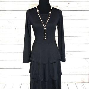 LuLaRoe Solid Black Georgia Dress